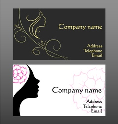 Business card for hairdressers vector