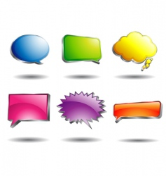 Shining speech bubble vector