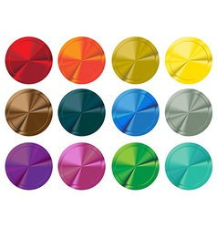 Colorful switch buttons vector