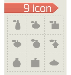 Perfume icon set vector
