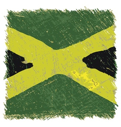 Flag of jamaica handmade square shape vector