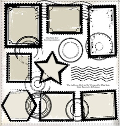 Set of post stamp symbols vector
