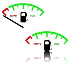 Image of a gas gauge vector