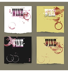 Set of wine labels vector
