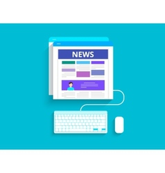 Online reading news vector