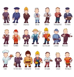 Set of business people such as policeman vector