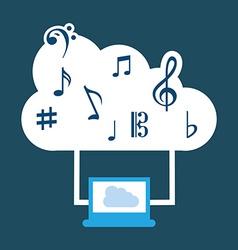 Music cloud vector