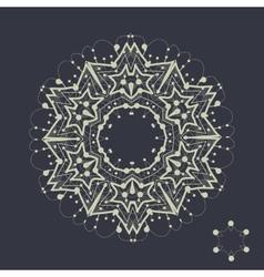 Mandala design outlined shape inspired by tribal vector