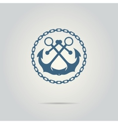 Anchor silhouette isolated logo vector