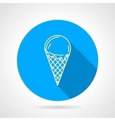 Line icon for ice cream vector