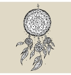 Dream catcher decorative vector