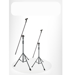 Two microphone stand banner vector