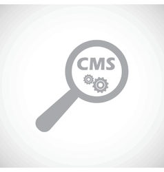 Cms under loupe icon vector