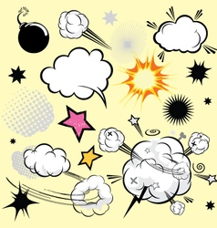 Cartoon comical actions vector