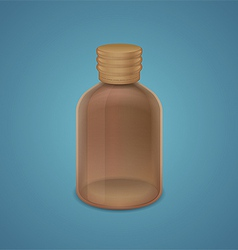 Brown bottle vector