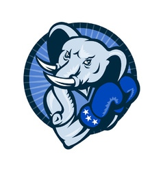 Elephant with boxing gloves vector
