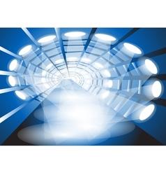 Illuminated corridor vector