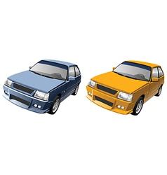 Small compact car vector