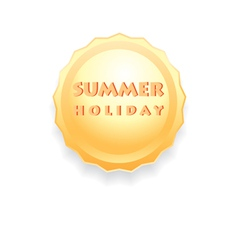 Sign of the sun summer holiday vector