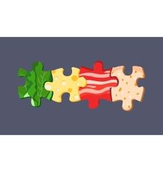 Food puzzles vector