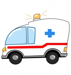 Ambulance cartoon vector