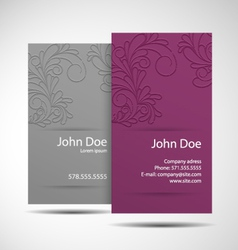 Business card monochrome vector