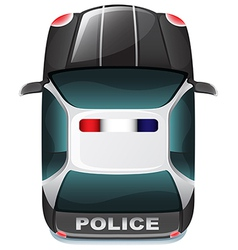 A police vehicle vector