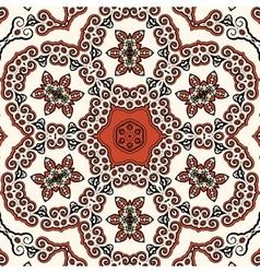 Seamless oriental liginoru motif mandala vector