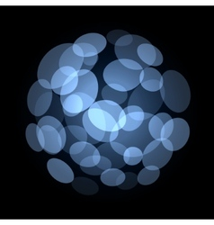 Blue abstract light spot background vector