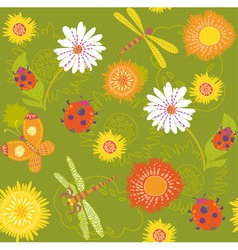 Summer floral pattern vector