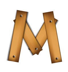 Wooden type m vector