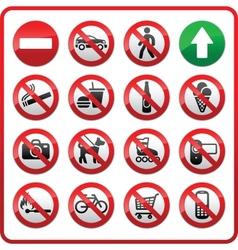 Prohibited set symbols vector