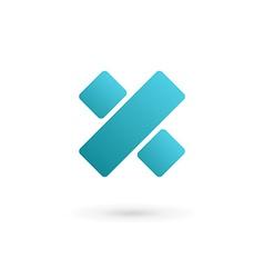 Letter x percent logo icon design template vector
