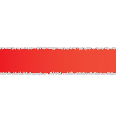 Torn paper red color vector
