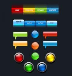 Web user elements set vector