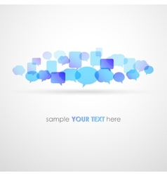 Speech bubble network background vector