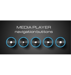 Set of media control buttons vector