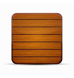 Modern wooden icon on white vector