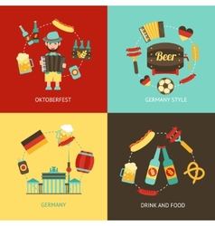 Germany travel flat set vector