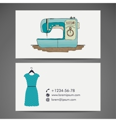 Retro sewing machine sketch for your design vector
