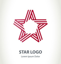 Star ribbon logo corporate logotype template vector