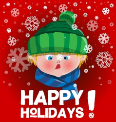 Kid holidays card vector