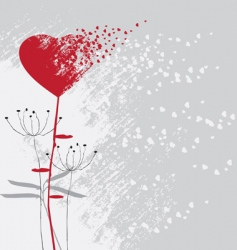 Valentines day abstract with dandelion vector