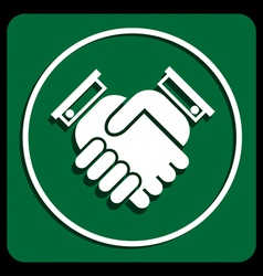 Business handshake vector