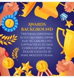 Award and prizes poster vector