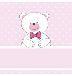 Cute grey teddy bear with patch vector