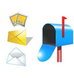 Cartoon mailbox design vector