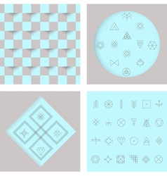 Set of geometric hipster shapes4 vector