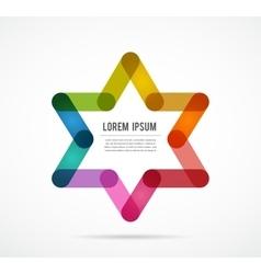 Jewish sign colorful star of magen david vector