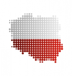 Map and flag of poland vector
